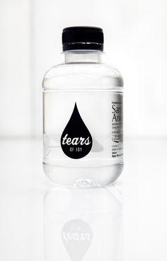 "Mineral water ""Tears of Joy"" by Yorokobu for Eyescream Water Packaging, Bottle Packaging, Pretty Packaging, Brand Packaging, Packaging Design, Branding Design, Coffee Packaging, Water Bottle Design, Jar Labels"