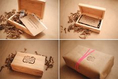 wooden usb drive packaging Photography Presentation USB :: Pretty Little Packaging