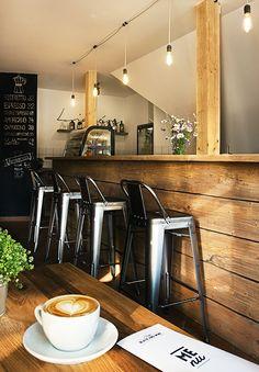 Café Black and Wine. Interior design of caffeteria in Vrchlabí
