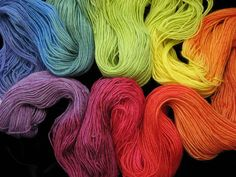 Bengal Twist rainbow hand dyed BFL sock yarn from The Painted Tiger
