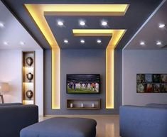 Stylish Modern Ceiling Design Ideas _ Engineering Basic Source by enginebasic Gypsum Ceiling Design, House Ceiling Design, Ceiling Design Living Room, Bedroom False Ceiling Design, False Ceiling Living Room, Ceiling Light Design, Home Ceiling, Living Room Designs, Lighting Design