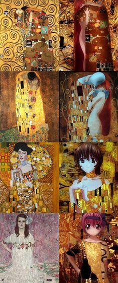 Il tributo grafico a Gustav Klimt nella opening della serie animata di Elfen Lied prodotta da Arms.