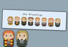 Harry Potter - The Weasleys chibi - PDF pattern by cloudsfactory