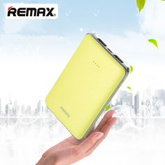 Remax 5000mAh Power Bank 2USB Port Moblie Phone Charger Battery for iPhone5S 6 6SPlus Xiaomi Samsung Tablets