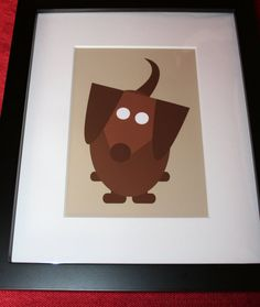 Brown Red Dachshund Doxie Framed Dog Print available through the Furever Dachshund Rescue Etsy Shop!