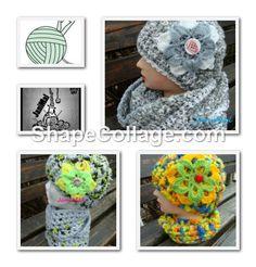 háčkování Crochet Hats, Hobbies, Knitting Hats
