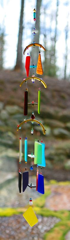 Beach glass wind chimes