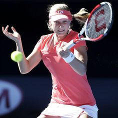 Australian Open 2013 - A russa Ekaterina Makarova durante jogo contra Sharapova
