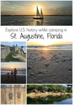 Florida History Through Camping in St. Augustine Beach Explore US History in St. Family travel ideas for visiting America's oldest city!Explore US History in St. Family travel ideas for visiting America's oldest city! Florida Camping, Florida Vacation, Florida Travel, Travel Usa, Florida Trips, Camping Places, Places To Travel, Places To See, All I Ever Wanted