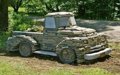 Truck out of stones