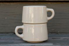 Pair of Wallace China Mugs - Vintage California Restaurantware