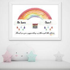Lockdown class rainbow print teacher gift thank you teacher | Etsy