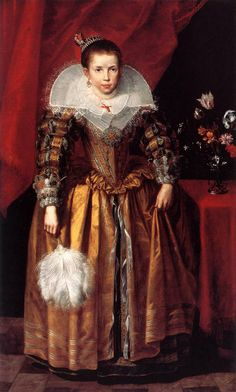 Portrait Of A Girl At The Age Of 10 by Cornelius de Vos