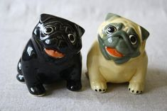Pug fawn black dog figurine ceramics handmade by RussianArtDogs Dog Lover Gifts, Dog Lovers, Pugs, Corgi Pembroke, Black Pug, Doberman Pinscher, Unusual Gifts, Hand Painted Ceramics, Ceramic Painting