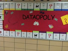 Data board: Students move their pieces around as their assessment scores increase