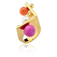 DOT COLLECTION ! #ring #gold #polkadot #dot #spot #jewelry #accessories #style www.designmariadolores.com.br