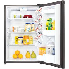 Find room for all your snacks with the Danby Designer cu. All Refrigerator . This compact fridge comes in select finish options and looks great. Refrigerator Without Freezer, Compact Refrigerator, White Refrigerator, Compact Kitchen, Cool Mini Fridge, Dorm Room Necessities, Dormitory Room, Dorm Room Organization, Shopping