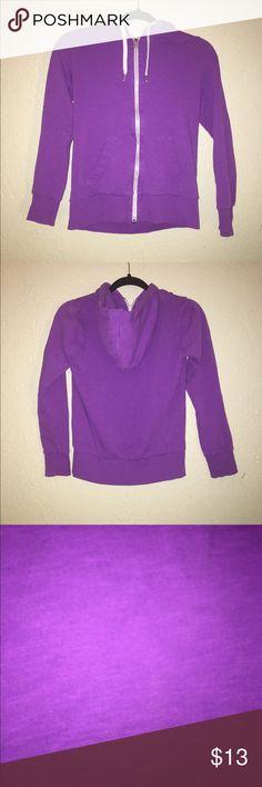 Comfy Purple Zip Up Comfy H&M zip up sweatshirt. In great condition. H&M Tops Sweatshirts & Hoodies