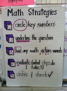 Problem Solving Strategies-- great anchor chart for word problems!