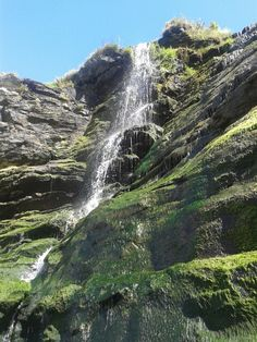Merlins well cornwall, a beautiful waterfall leading to a little cove