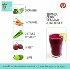 This recipe incorporates some of the wonderful cleansing properties of the beet and citrus juice with the low calorie celery and cucumber to keep the overall calories and sugar content down. This is also a great recipe if you are juicing for weight loss. You can go more heavy on the cucumber and celery if you want to further thin down the calories.  Ingredients:  1 medium cucumber 3 carrots ¼ beet 3 stalks of celery 1 lime