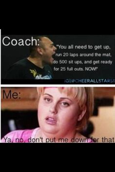 I think we can all relate this to gymnastics! Volleyball Memes, Cheerleading Quotes, Gymnastics Quotes, Soccer Memes, Sports Memes, Softball Problems, Olympic Gymnastics, Beach Volleyball, Olympic Games