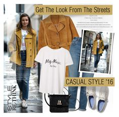 """""""Street Style"""" by monazor ❤ liked on Polyvore featuring Monki, Topshop, MM6 Maison Margiela, Keds and MANGO"""