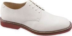 """Nubuck Oxford Shoes White """"bucks"""" or nubucks were another style of oxford shoe for teens. They had to be kept perfectly white all the time. Small """"bunny bags"""" of chalk powder were included with each white buck shoe so girls could powder them on breaks"""
