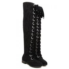 Street Style Lace and Lace-Up Design Women's Boots, BLACK, 39 in Boots | DressLily.com