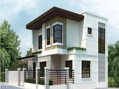 30 Images of Some of the Most Beautiful Two - Story House Design Zen House Design, 3 Storey House Design, Bungalow Haus Design, Two Story House Design, Simple House Design, House Design Photos, Minimalist House Design, Cool House Designs, Style At Home