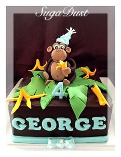 Cheeky Monkey  Cake by cakesbySugaDust