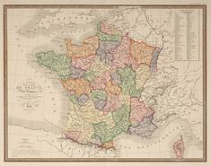Large Scale Map Of France.392 Best A Selection Of Antique Print And Map Room S Favourite