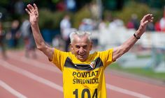 Runner, 104, sets a new record after running 100m in 32.79 seconds