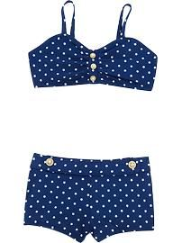 YAY!  I just scored this swimsuit for Ames.  It's so cute.  I wish they made one in my size too.  Toddler Girl Clothes: Swimwear | Old Navy