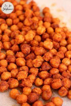 Snack original, sain et tellement crousti, testez les pois chiches grillés au paprika. Recette vegan