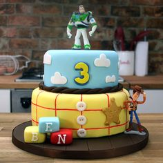 Toy Story Cake Tutorial | Buzz Lightyear & Woody Cake