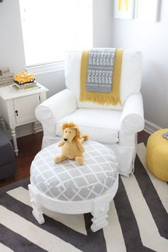 Searching for a new color scheme for the nursery? Grays and yellows offer the perfect blend of soothing and savvy.  This nursery features On the Rocks SW 7671. When it comes to decor, don't forget to mix modern geometric shapes with eclectic meaningful objects for a design look you're sure to love.