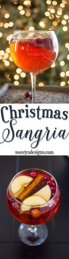 Christmas Sangria- this is so delicious!