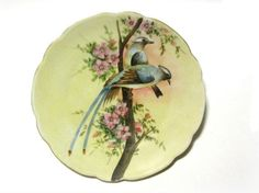 Hey, I found this really awesome Etsy listing at https://www.etsy.com/listing/475844250/antique-blue-swallow-plate-mz-austria