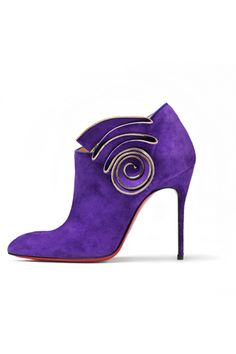 Christian Louboutin Purple Suede Ankle Boots Fall 2012 #CL #Louboutins #Shoes #Booties #Boots with <3 from JDzigner www.jdzigner.com