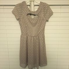 Lauren Conrad Lace Dress Beautiful Lauren Conrad Lace dress. Is stretchy and can also fit a medium! Super flattering, hits a few inches above the knee and will cover a bra even with slightly open back. NWOT LC Lauren Conrad Dresses