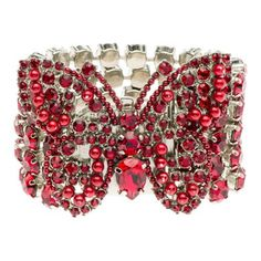 SUCH a MAGNIFICENT butterfly cuff. Would wear this with either bright royal blue or bright yellow...ANYTHING. STUNNING!