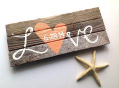 Custom Reclaimed Beach Wooden Rustic Love Wedding Wood Sign-Wedding Signage-Drift Wood Sign-Beach Sign-Beach House Sign-Wooden Sign on Etsy, $33.25
