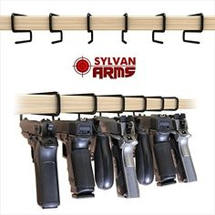 Sylvan Arms Handy Gun Hangers 6 Pack for Shelves and Safes Works For All Handguns >>> You can find out more details at the link of the image.
