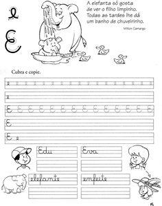 Atividades Aprender Escrever com Letra Cursiva - Alfabetização Infantil - Atividades Infantil 10