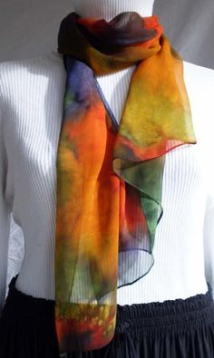 Hand dyed silk. Just lovely.