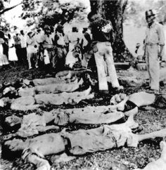 """About survivors of the fighting on Bataan (above) were herded on a """"death march"""" on which many of them died from exhaustion or the brutal treatment of their guards. Bataan Death March, Dramatic Photos, Political Beliefs, Man Of War, Ww2 Photos, Prisoners Of War, Us History, Old Pictures, World War Ii"""