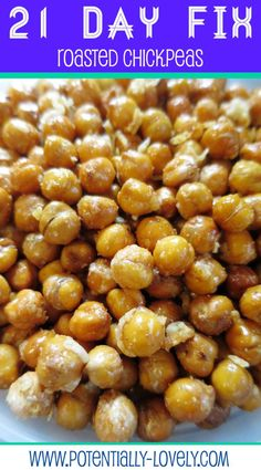 21 Day Fix Roasted Chickpeas