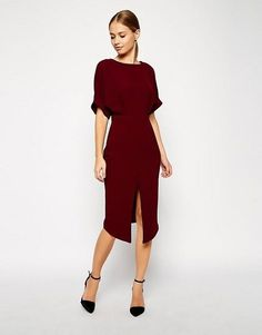 """Trying to figure out what to wear to a fall wedding as a wedding guest? A wine dress like this one is a great option. Catch onto those """"notes"""" like blackberry, plum, chocolate, and now you have the perfect inspiration for your fall wedding attire. Burgundies, maroons, wine, and marsalas are the reigning top hues for autumn and it's time that you prove you're in the know. 