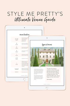 Are you freshly engaged and trying to figure out what type of wedding to plan? After you soak in all the engagement bliss, the first step to planning your dream day is securing a venue! We'll be the first ones to admit how overwhelming this process can be, but lucky for you, our Ultimate Venue Guide has allll the insight, answers, and inspo you need! Head to plan.stylemepretty.com today to instantly download your digital copy! #stylemepretty #weddingvenue #weddingplanning #bride #bridetobe Plan Your Wedding, Wedding Planning, Wedding Ideas, Wedding Reception, Wedding Venues, Happy We, Little Black Books, Diy Wedding Projects, First Step